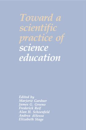 Toward a Scientific Practice of Science Education book cover