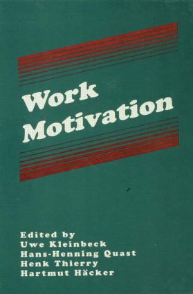 Work Motivation (Hardback) book cover