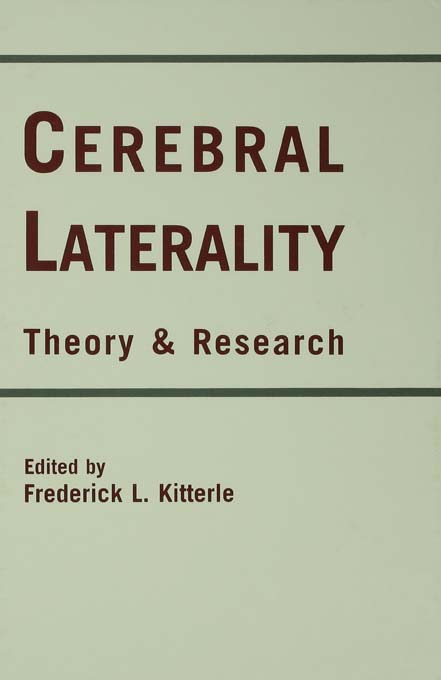 Cerebral Laterality: Theory and Research (Hardback) book cover