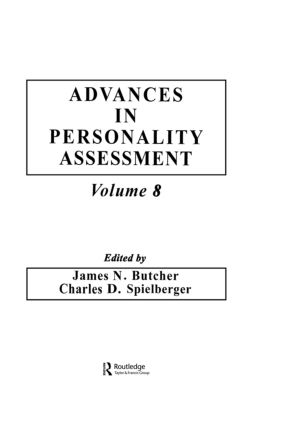 Advances in Personality Assessment: Volume 8, 1st Edition (Hardback) book cover