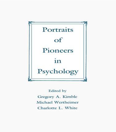 Portraits of Pioneers in Psychology (Hardback) book cover