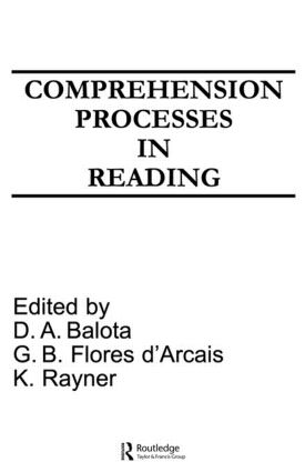 Comprehension Processes in Reading (Paperback) book cover