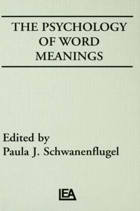 The Psychology of Word Meanings (Hardback) book cover