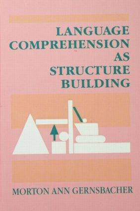 Language Comprehension As Structure Building: 1st Edition (Hardback) book cover