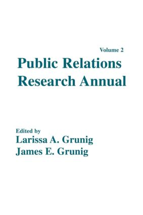 Public Relations Research Annual: Volume 2 (Paperback) book cover