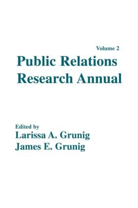 Public Relations Research Annual: Volume 2, 1st Edition (Paperback) book cover