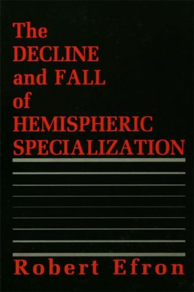 The Decline and Fall of Hemispheric Specialization (Hardback) book cover