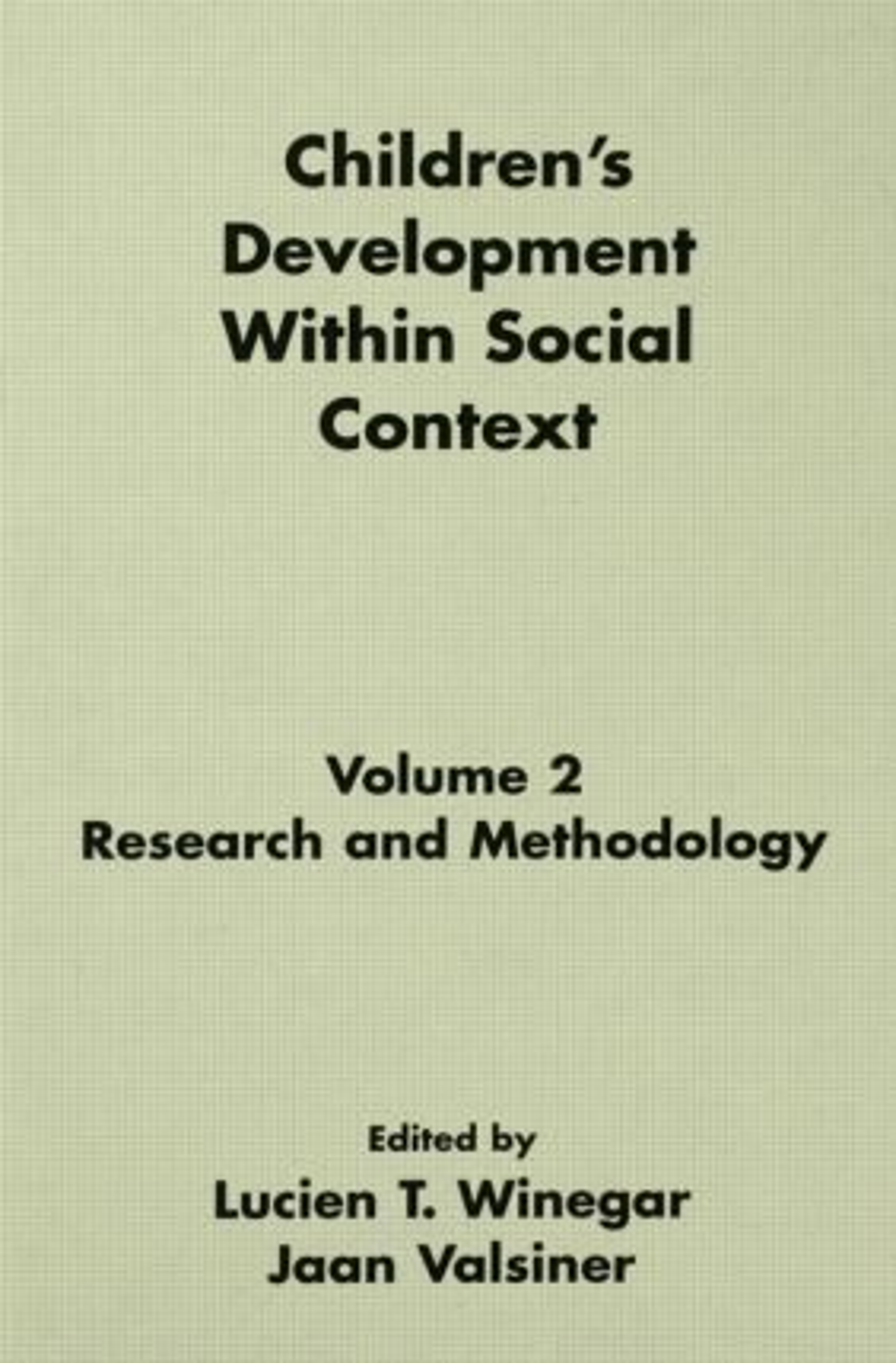 Children's Development Within Social Context
