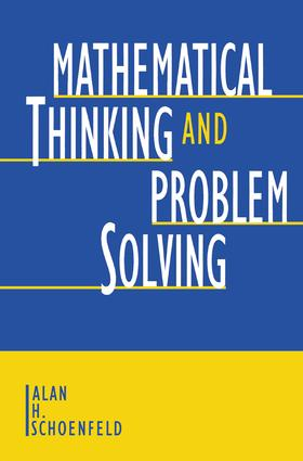 Mathematical Thinking and Problem Solving book cover