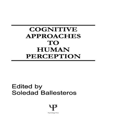 Cognitive Approaches to Human Perception (Hardback) book cover
