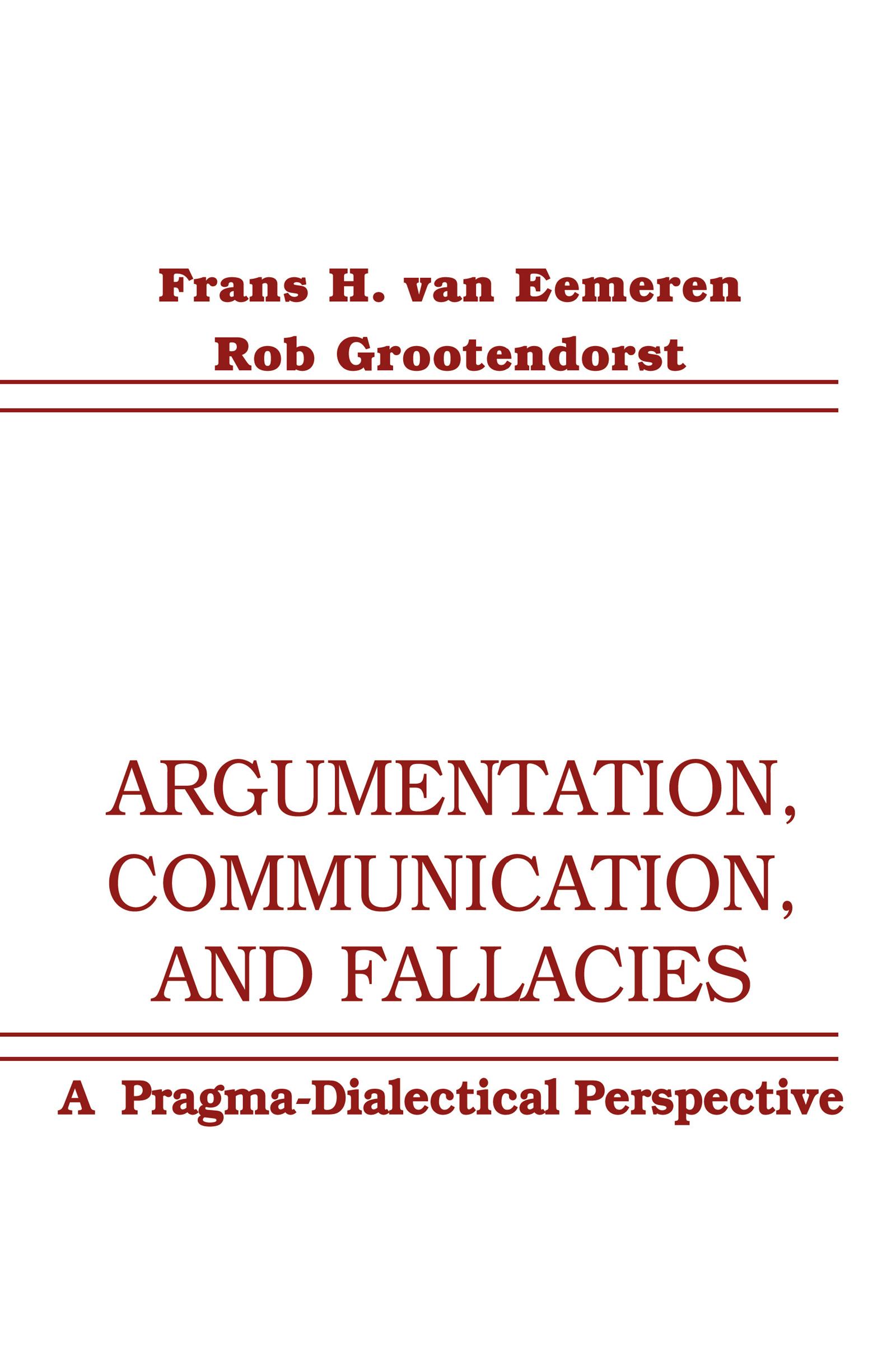 Argumentation, Communication, and Fallacies
