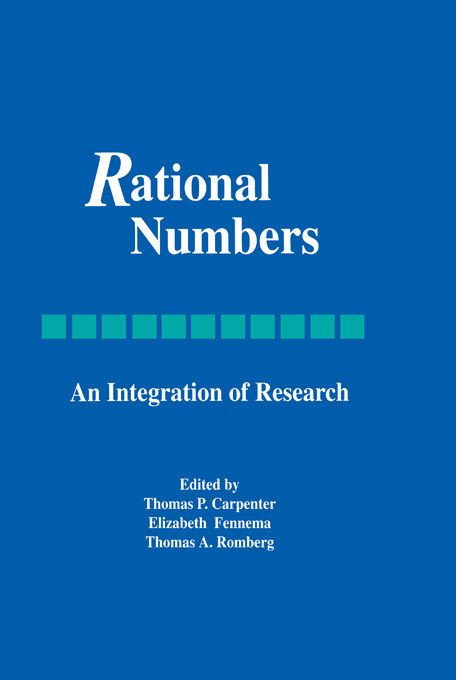 Rational Numbers: An Integration of Research book cover