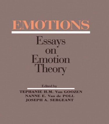 Emotions: Essays on Emotion Theory (Hardback) book cover