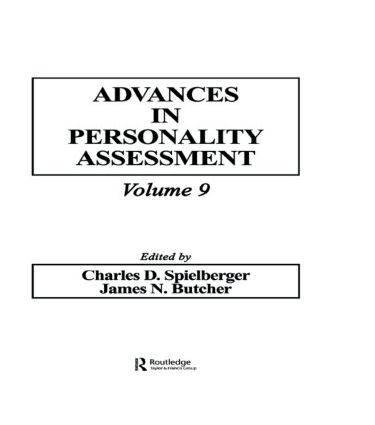 Advances in Personality Assessment: Volume 9 (Hardback) book cover
