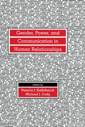Gender, Power, and Communication in Human Relationships: 1st Edition (Paperback) book cover
