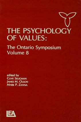 The Psychology of Values: The Ontario Symposium, Volume 8 (Hardback) book cover