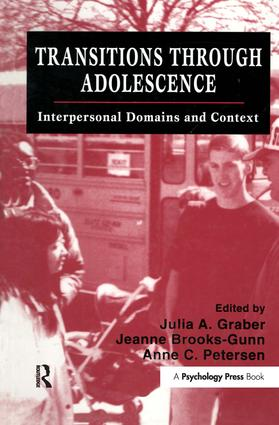 Transitions Through Adolescence: Interpersonal Domains and Context (Hardback) book cover
