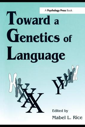 Toward A Genetics of Language (Paperback) book cover