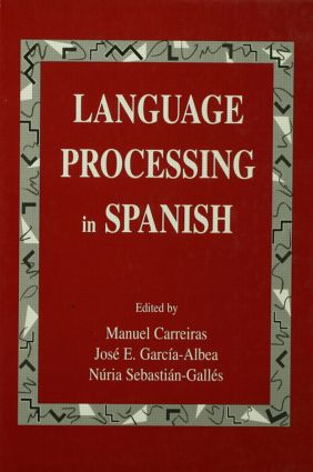 Language Processing in Spanish (Hardback) book cover