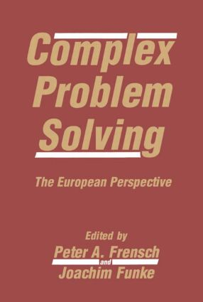 Complex Problem Solving: The European Perspective, 1st Edition (Paperback) book cover