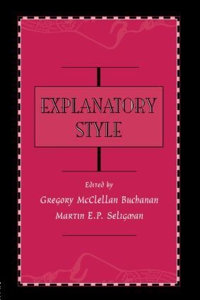 Explanatory Style: 1st Edition (Paperback) book cover