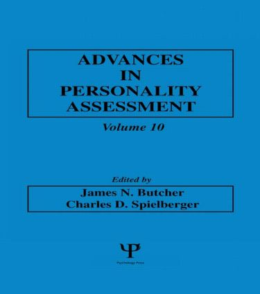 Advances in Personality Assessment: Volume 10 (Hardback) book cover