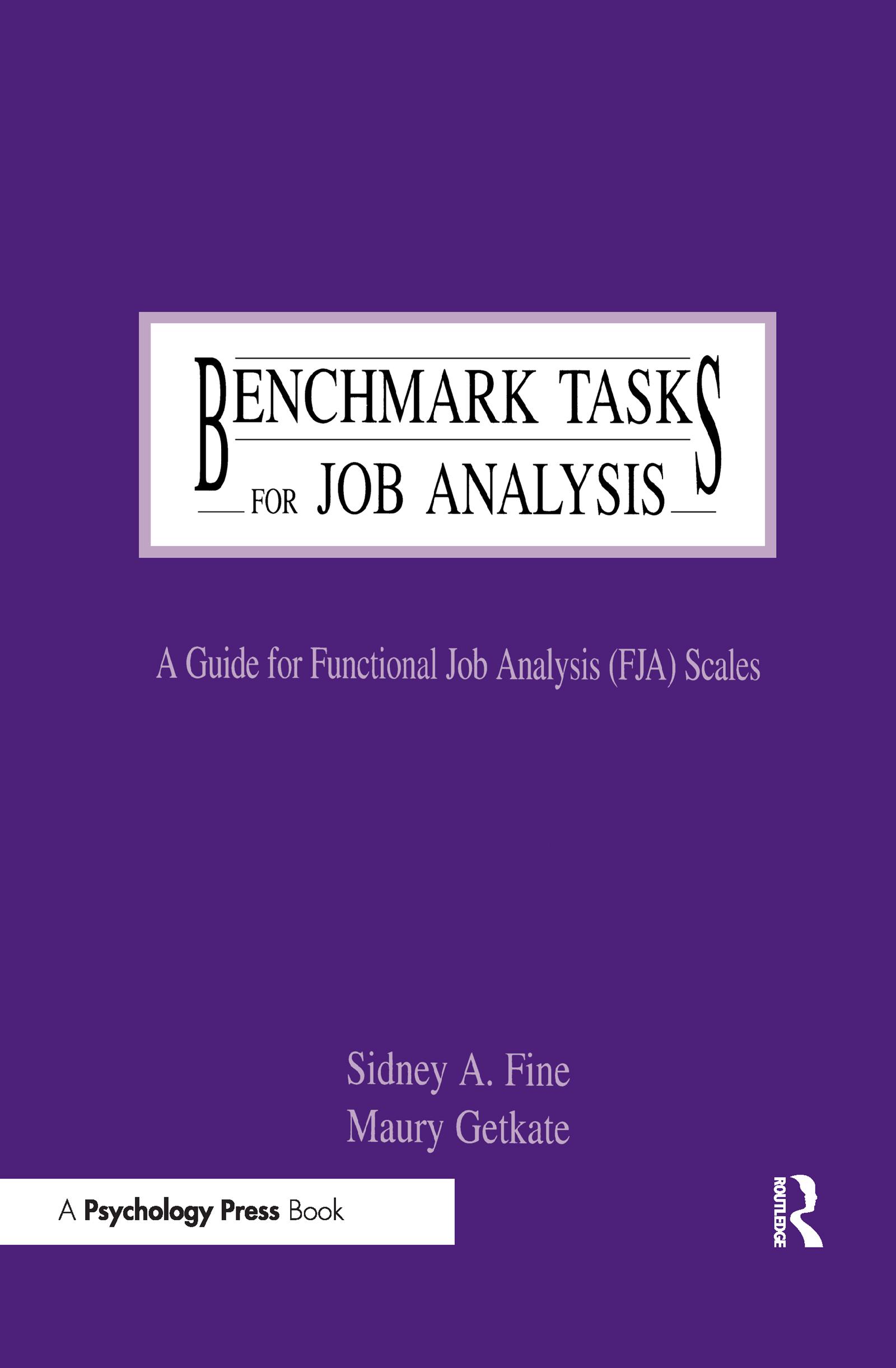 Benchmark Tasks for Job Analysis