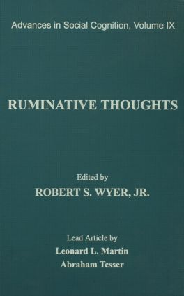 Ruminative Thoughts: Advances in Social Cognition, Volume IX (Paperback) book cover