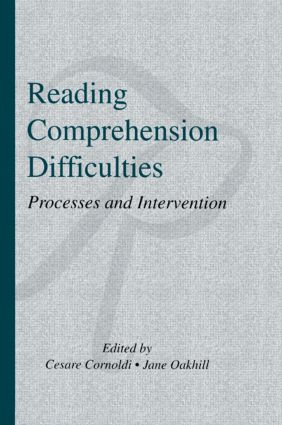 Reading Comprehension Difficulties: Processes and Intervention (Hardback) book cover