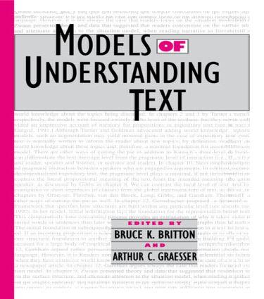 Models of Understanding Text