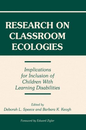 Research on Classroom Ecologies: Implications for Inclusion of Children With Learning Disabilities (Paperback) book cover