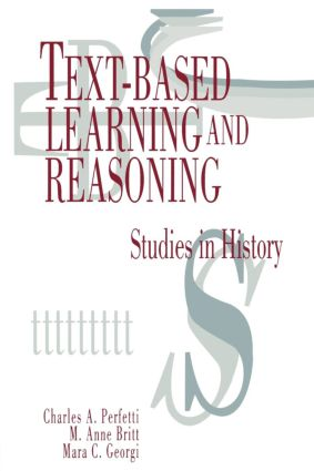 Text-based Learning and Reasoning: Studies in History, 1st Edition (Paperback) book cover