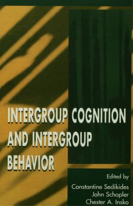 Intergroup Cognition and Intergroup Behavior book cover