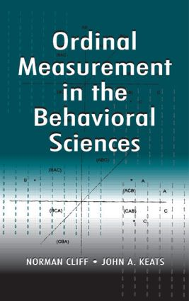 Ordinal Measurement in the Behavioral Sciences (Hardback) book cover