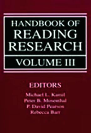 Handbook of Reading Research, Volume III book cover