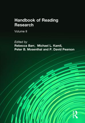 Handbook of Reading Research, Volume II book cover
