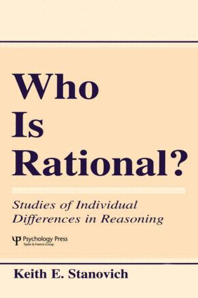 Who Is Rational?: Studies of individual Differences in Reasoning (Paperback) book cover