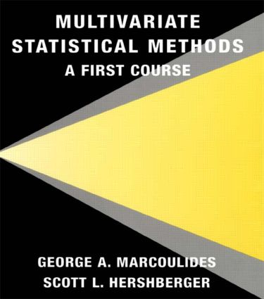 Multivariate Statistical Methods: A First Course (Paperback) book cover