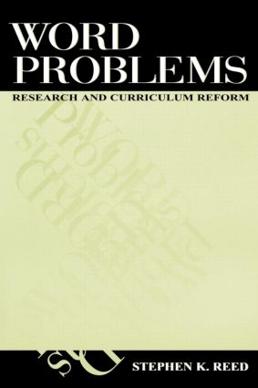 Word Problems: Research and Curriculum Reform (Paperback) book cover