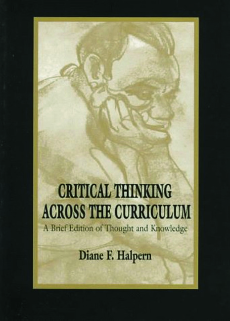 Critical Thinking Across the Curriculum: A Brief Edition of Thought & Knowledge (Paperback) book cover
