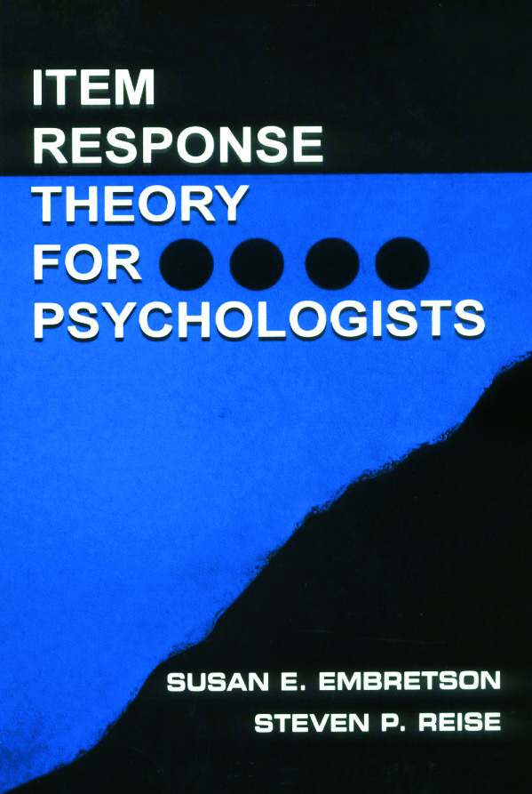 Item Response Theory (Paperback) book cover