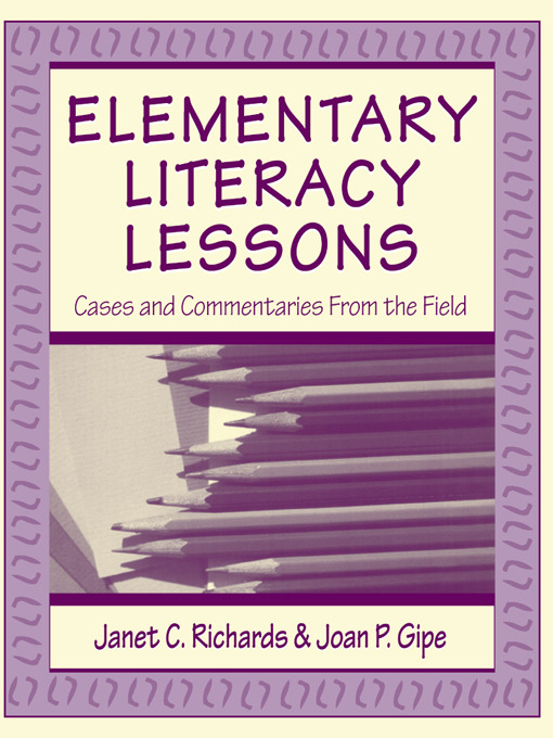 Elementary Literacy Lessons: Cases and Commentaries From the Field (Paperback) book cover