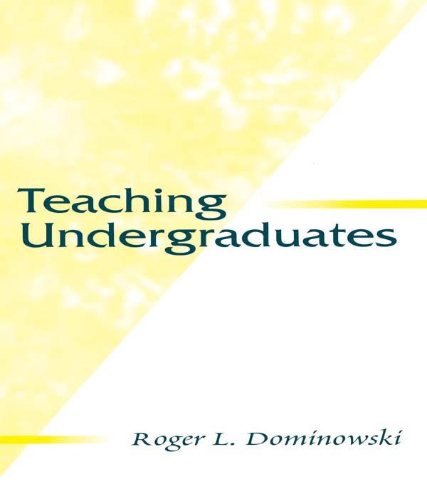 Teaching Undergraduates (Paperback) book cover