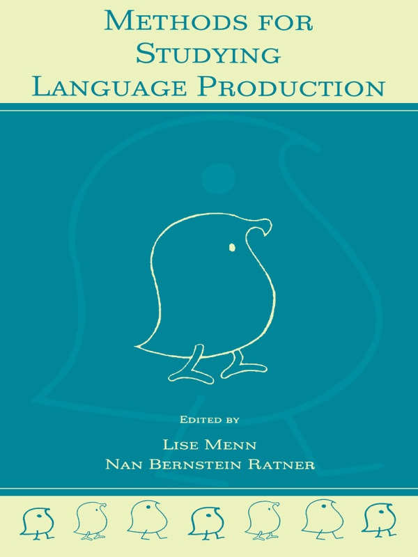 Methods for Studying Language Production: 1st Edition (Paperback) book cover