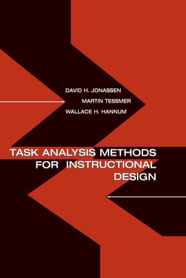 Task Analysis Methods for Instructional Design (Paperback) book cover