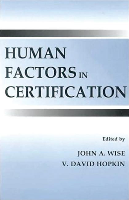 Human Factors in Certification (Hardback) book cover
