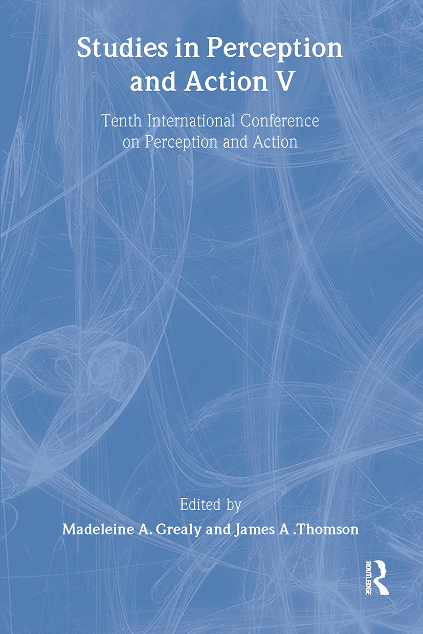 Studies in Perception and Action V: Tenth international Conference on Perception and Action (Paperback) book cover