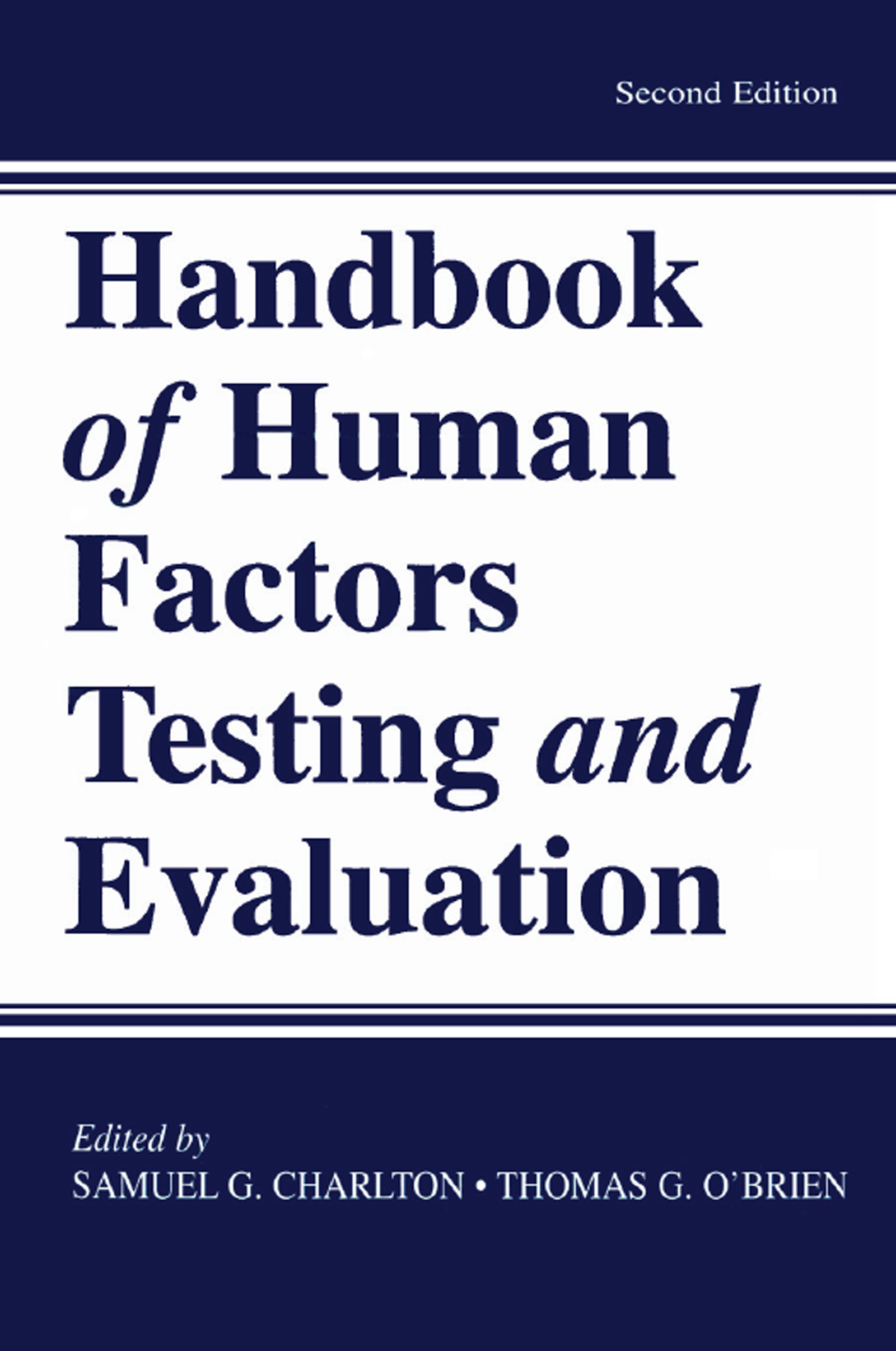 Handbook of Human Factors Testing and Evaluation: 2nd Edition (Paperback) book cover