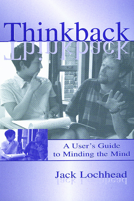 Thinkback: A User's Guide to Minding the Mind, 1st Edition (Paperback) book cover