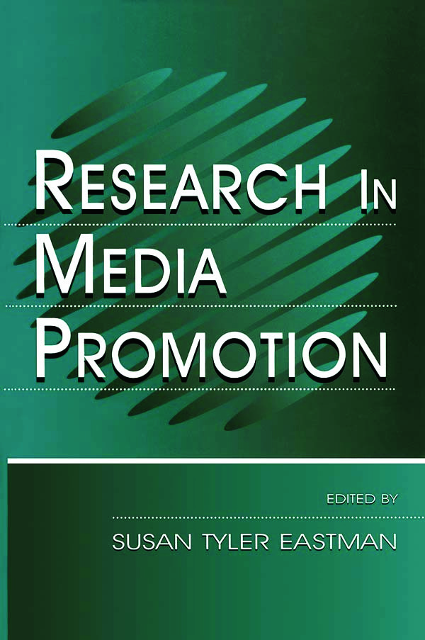 Research in Media Promotion (Hardback) book cover